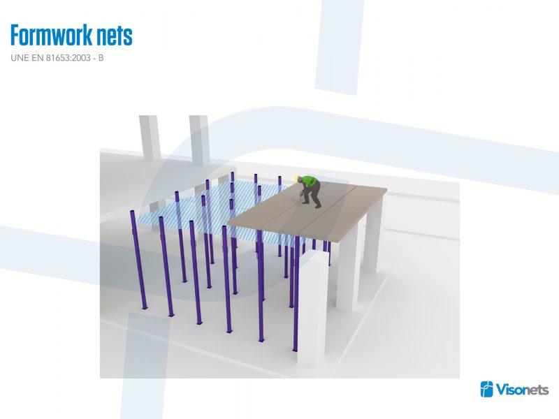Protective net – Formwork net system VISORNETS