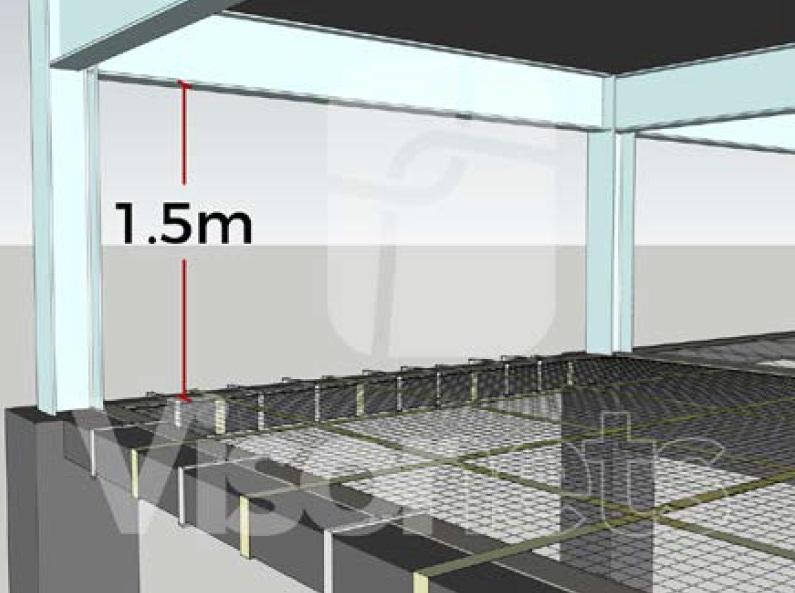 tensioned acces platform visornets
