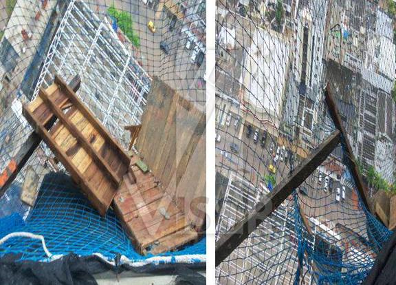tips avoid falling objects in a safety net