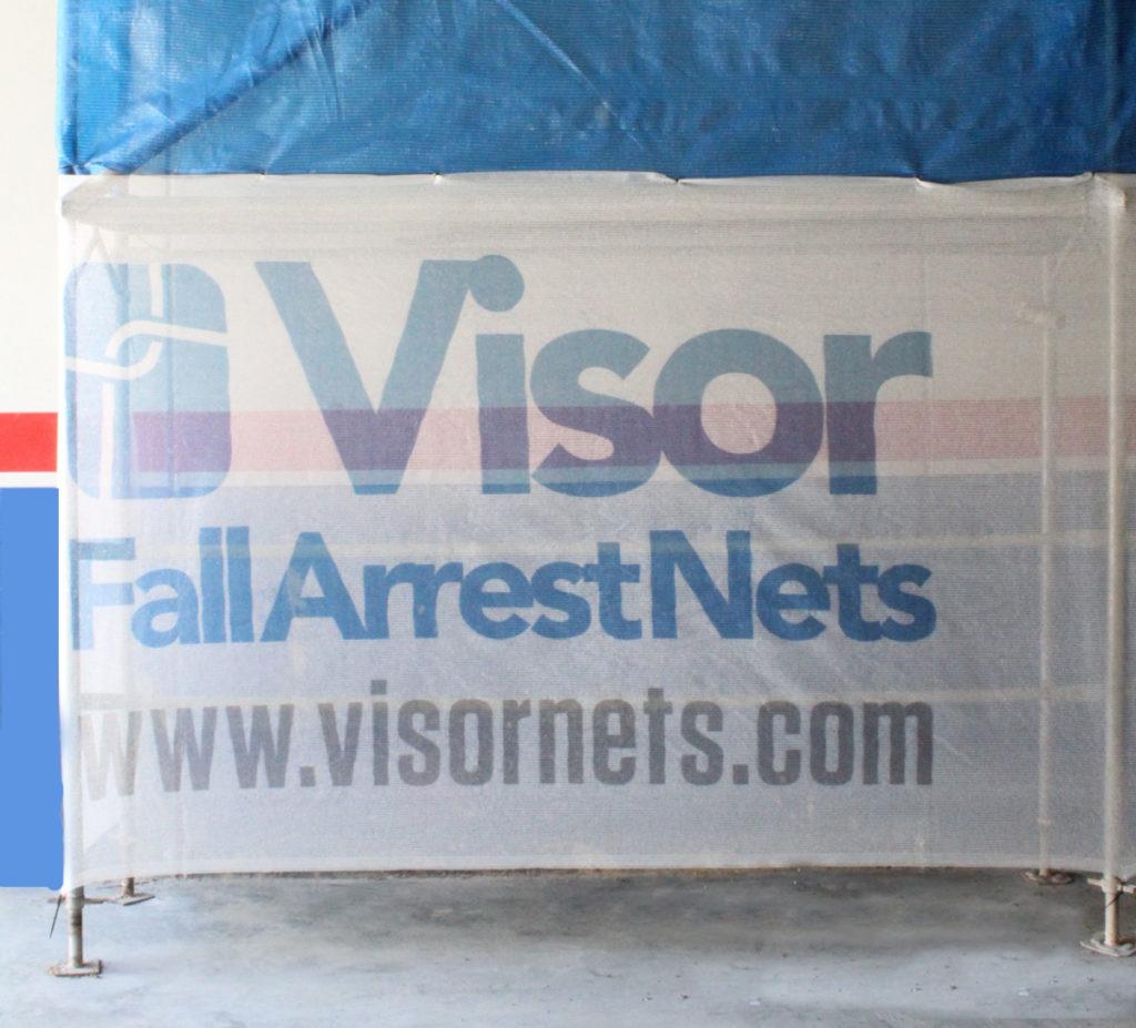 scaffold netting with custom logo visornets