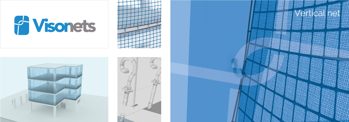 Protective net - Vertical net - VISORNETS - Fall arrest nets