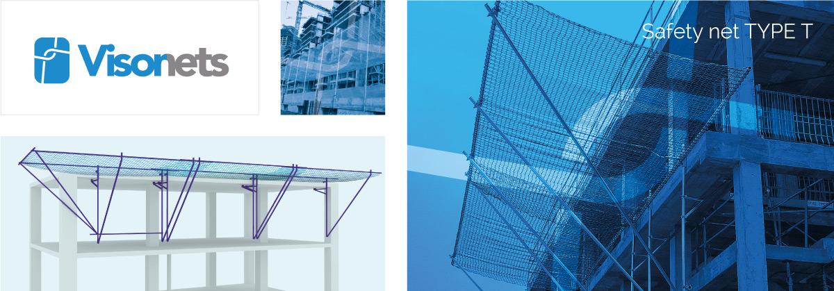 Safety net Type T EN-1263-1 - VISOR-T - Fall arrest nets