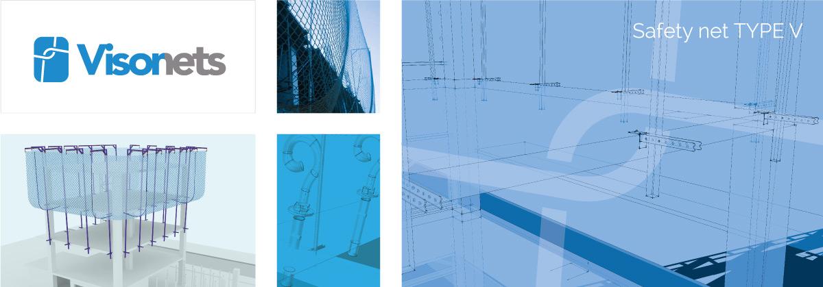 Safety net Type V EN-1263-1 - VISOR-V - Fall arrest nets