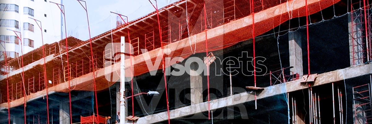 SAFETY NETS - Certified system V Type - Fall Arrest Nets - VISORNETS